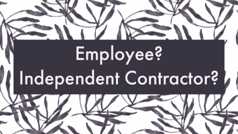 independent contract or employee