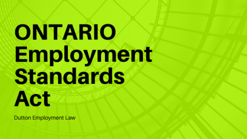 EMPLOYMENT STANDARDS ACT