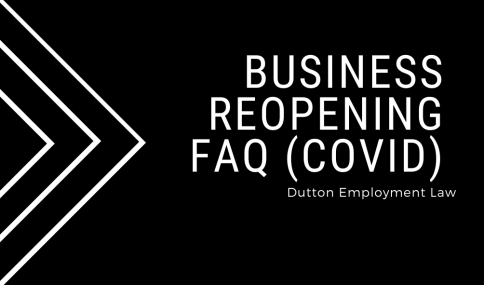 Business Reopening guidelines (COVID)