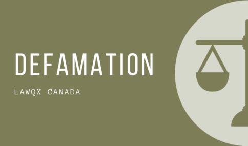 Defamation Canada