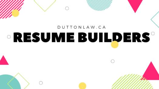 Resume builders