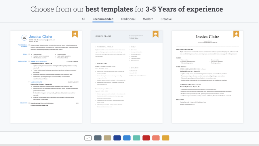resume creation website