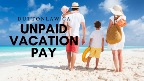 unpaid vacation pay in Ontario